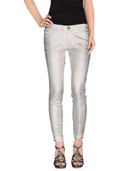S.O.S By Orza Studio Denim Denim Trousers Women White