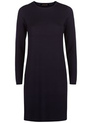 Jaeger Milano Knit A Line Dress Navy