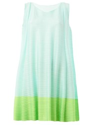 Pleats Please By Issey Miyake Pleated Mini Dress Green