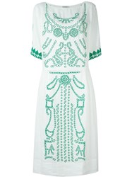Forte Forte Embroidered Dress White