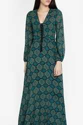 Talitha Marissa Silk Print Dress Green