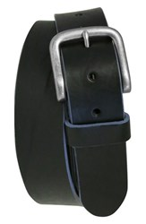 Men's Boconi 'Bastian' Bison Leather Belt Black