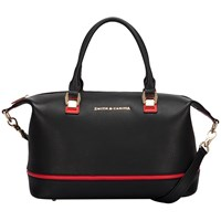 Smith And Canova Gracie Twin Strap Bowling Bag Black Red Black And Red