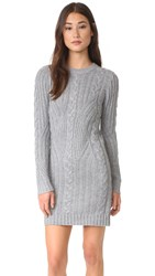 Moon River Long Sleeve Sweater Dress Heather Grey