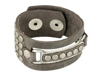 Leather Rock B770 Rough Charcoal Bracelet Beige