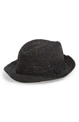 Men's John Varvatos Star Usa Straw Fedora Black Black