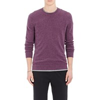 Theory Melange Cashmere Sweater Purple