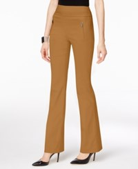 Inc International Concepts Zip Pocket Bootcut Pants Only At Macy's Salty Nut