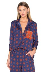 House Of Harlow X Revolve Cyndee Classic Button Down Navy