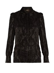 Roberto Cavalli Monkey And Snake Jacquard Blouse Black