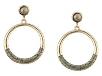 Sam Edelman Etched Gypsy Hoop Earrings Gold Earring