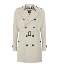 Burberry London The Kensington Mid Length Heritage Trench Coat Male