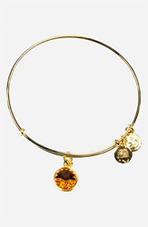 Women's Alex And Ani Birthstone Expandable Wire Bangle November Topaz