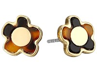 Marc By Marc Jacobs Flower Stud Earrings Tortoise Multi Earring Red