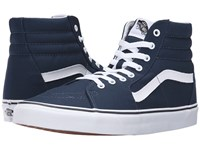 Vans Sk8 Hi Canvas Dress Blues True White Skate Shoes