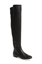 Vince Camuto 'Filtra' Over The Knee Boot Women Black Leather Shiny Snake
