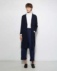 Blue Blue Japan Paper Knit Gawn Cardigan Navy