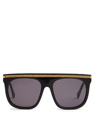 Stella Mccartney Falabella D Frame Acetate Sunglasses Black