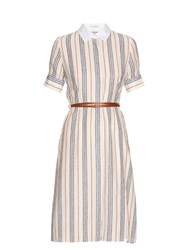 Altuzarra Kieran Striped Crepe De Chine Shirtdress Red Stripe