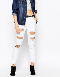 Pepe Jeans Destroyed Ripped Boyfriend Jean White