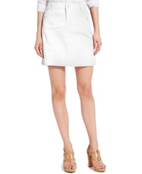 Tommy Hilfiger Solid Chino Skirt Bright White