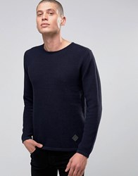 Minimum Jumper With Textured Knit In Navy Navy