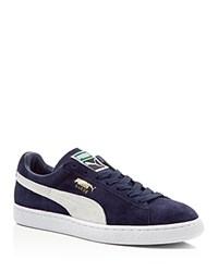 Puma Suede Classic Lace Up Sneakers Peacoat White
