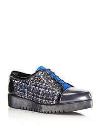 Aquatalia By Marvin K Aquatalia Weatherproof Ada Metallic Woven Lace Up Sneakers Gunmetal