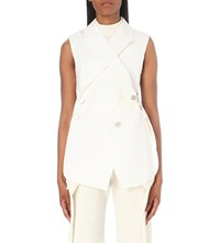 Proenza Schouler Asymmetric Cotton And Wool Blend Waistcoat Off White