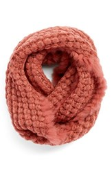 Women's La Fiorentina Infinity Scarf With Genuine Rabbit Fur Fringe
