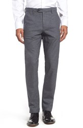 Ted Baker Men's London Classic Fit Brushed Cotton Trousers Mid Grey