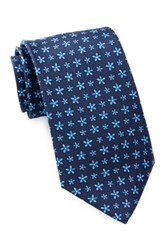 Tailorbyrd Silk Flowers Tie Blue