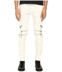 God's Masterful Children Chain Biker Jeans White White Men's Jeans