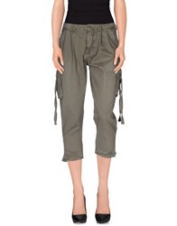 Blauer Trousers 3 4 Length Trousers Women Military Green