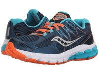 Saucony Lancer 2 Teal Orange Women's Running Shoes Blue