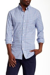 Bonobos Hubert Tattersall Long Sleeve Slim Fit Shirt Blue