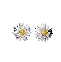 Azendi Sterling Silver Daisy Earrings