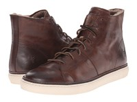 Frye Gates High Dark Brown Antique Pull Up Men's Lace Up Casual Shoes