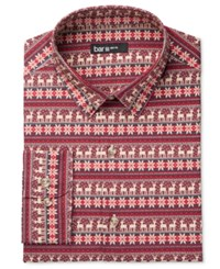 Bar Iii Men's Slim Fit Oh Dear Print Dress Shirt Only At Macy's Red