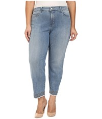 Nydj Plus Size Clarissa Ankle Jeans With Embroidered Hem In Parker Parker Women's Jeans Blue