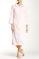 Casual Moments Needle Out Zip Front Robe Pink