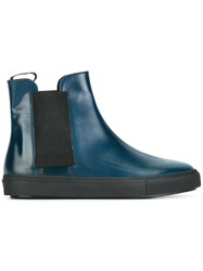 Fratelli Rossetti Round Toe Boots Blue
