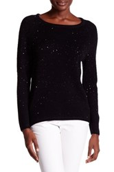In Cashmere Beaded Wool Blend Pullover Black