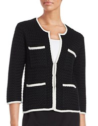 Trina Turk Poshly Cardigan Black White