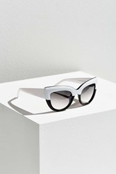 Urban Outfitters Colorfade Cat Eye Sunglasses Black