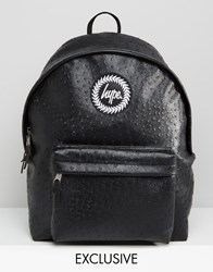 Hype Exclusive Backpack In Faux Ostrich Leather Black