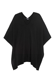 Vince Cashmere Leather Trim Poncho
