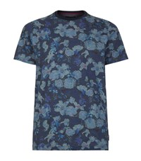 Ted Baker Floral Printed T Shirt Male Blue