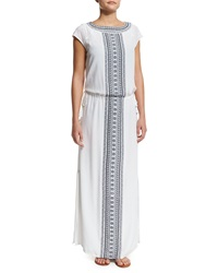 Tory Burch Embroidered Long Caftan Coverup Dress New Ivry Tory Nvy