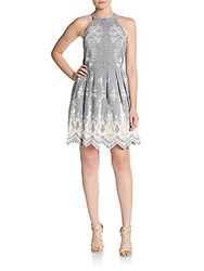 Cynthia Steffe Judith Embroidered Pleated Fit And Flare Dress Multi